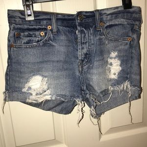 Distressed urban outfitters jean shorts